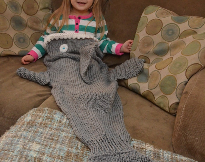 Shark Attack Blanket - MADE TO ORDER