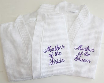 Personalized Wedding Robes Mother of the Bride, Mother of the Groom Custom Embroidery Monogram Gifts
