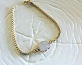 White Druzy Bracelet