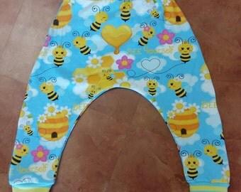 Bee Happy harem pants, 1-2y.