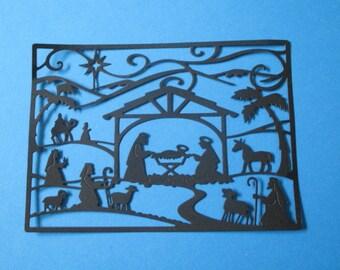 4 Nativity Scene Card Fronts