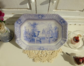 Blue Delft Amphora Ceramic Dollhouse Tray