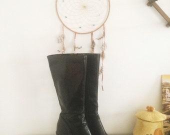 90's Knee High Chunky Platform Black Boots