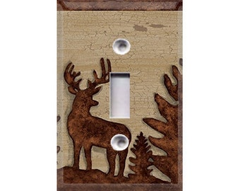 Wooden Wildlife Silhouette Light Switch Cover