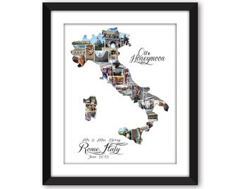 Italy Italian Europe Wedding Vacation Honeymoon Destination Travel Photo Collage Wall Art Home Decor Digital Printable
