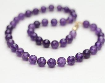 february birthstone amethyst necklace / purple gemstone necklace birthstone jewelry / gemstone jewelry / amethyst jewelry #1516