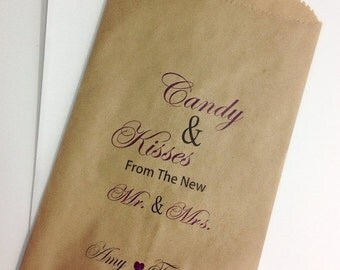 ON SALE Candy Buffet Bags, Wedding Candy Favor Bags, Bags For Candy, Candy Bar Bags