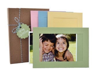 Photo Insert Note Cards, 24 card Spring collection - Made in the USA from recycled paper