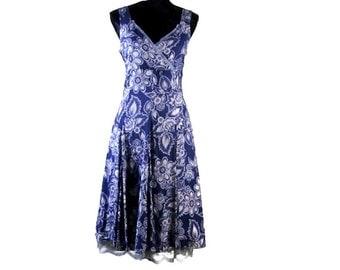 "FRENCH SUMMER DRESS - 20"" Off! Sleeveless dress, Sexy French Dress, Vintage Summer Dress, Lined Summer Dress, Cotton Dress"
