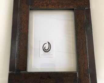 Steel Metal Picture Frame 5x7 Made From Repurposed Steel