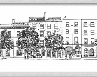 line Drawing South Mall