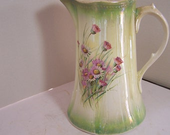 Vintage Pitcher with Flowers