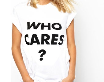 "Moschino ""Who cares?"" Print T-shirt"