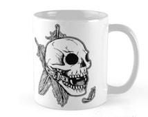 Alternative Ball Gag Skull Feathers Art Cup Mug by zombieCraig