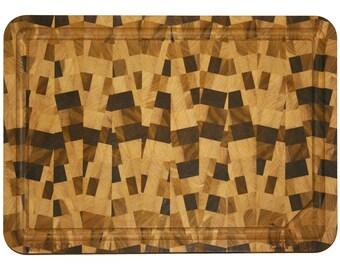 "Cutting Board / Butcher Block - Poplar Wood - Rectangular - JMP ""Zig Zag"""