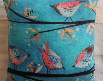 Birds on Blue cushion