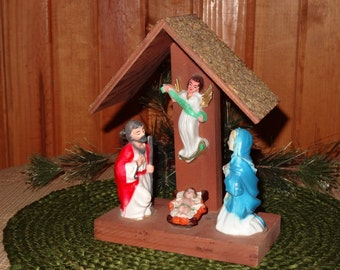 Vintage Nativity Scene / Nativity / Christmas Decor / Holiday Decor / Holy Family