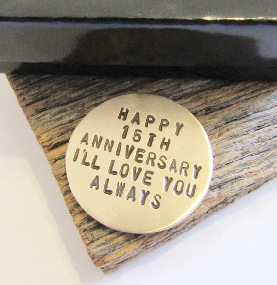 15th Wedding Anniversary Gift For Wife: 15th Anniversary Golf Ball Marker For Men 15th Wedding