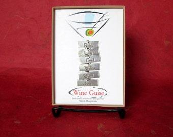 Vintage Wine Guise Six Identity Bracelets for Glassware by Metal Morphosis Original Box