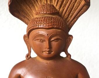 佛 中國 Vintage Meditation Buddha Bali Wood Art 中国
