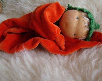 Waldorf cuddle doll, first doll 30cm