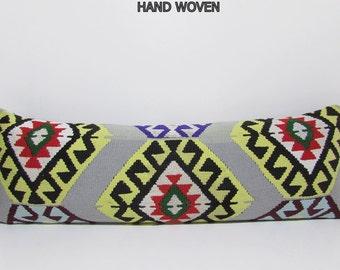 16x48 hippies kilim pillowcase choice turkish pillow cover throw kilim cushion cover vintage cushion cover woven kilim cushion cover 459