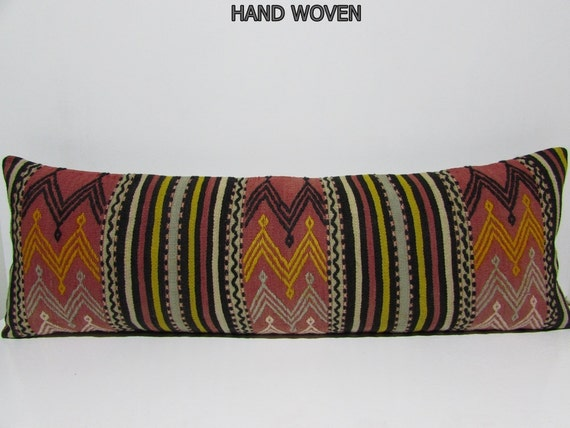 16x48 King Bed Kilim Pillow Large Kilim Rug By