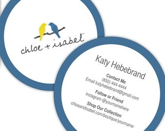 Chloe+Isabel Round Business Cards - Personalized for your Jewelry Boutique