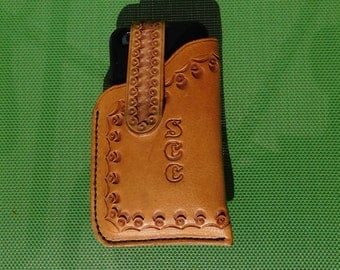 Cell Phone Holster for iPhone 6 and Others - Personalized with Initials and Border