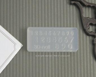 Numbers Miniature Mold