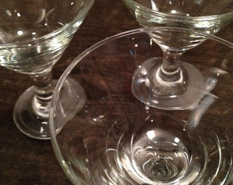 Set of 4 Small Martini - After Dinner Drinks Glasses