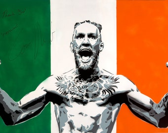 "Notorious 11""x17"" print - Conor McGregor Street Art; ufc, tuf, ireland, mma, the notorious, spray paint, pop stencil art by Mowgli"