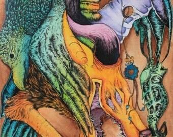 Watercolor Creatures.
