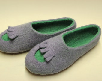 Felted slippers Women house shoes  gift for her
