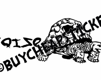 Tortoise Life Decal/Sticker 12X4