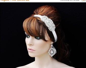 SALE - SWAROVSKI Headpiece , Wedding Headband , Bridal Headband , Crystal Rhinestone Headband