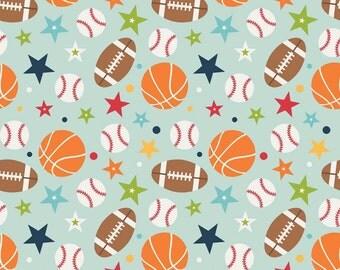Playball Fabric - Riley Blake - Lori Whitlock. Sports Baseball Football Basketball fabric - 100% cotton - C4310