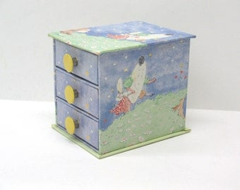 Childs Jewelry Box Laura Ashley Jewelry Box Hey Diddle Diddle Nursery Rhyme Childs Trinket Box