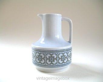 Hornsea Tapestry bottle pourer for oil or vinegar, vintage pottery 1970s