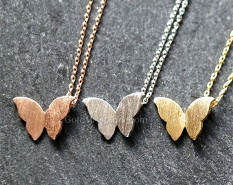 Gold Butterfly Necklace / Gift for her / Handmade necklace / ButterFly charm / ButterFly pendant necklace