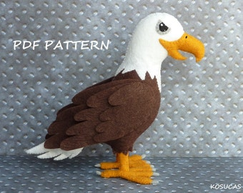 PDF pattern to make a felt eagle.