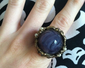 Vintage Deep Purple Statement Ring