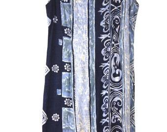 Blue Sequin Summer Dress
