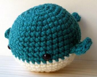 Blue crochet whale mascot, amigurumi whale, amigurumi plushie, crochet whale, blue whale, whale plushie, crochet plushie, softie, yarn toy