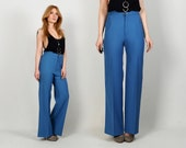 vintage 70s Levi's TROUSERS S M high waisted blue bell bottom bellbottoms bottoms high waist flared levis pants