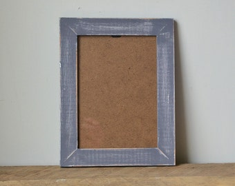 shabby chic rustic dark grey distressed photo frame 7x5 inches