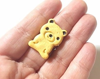 Kawaii bear cookie ring