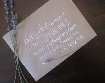 Outer Envelopes ~ Style #1 ~ Custom Calligraphy / Wedding Calligraphy / Envelope Addressing / Hand Written
