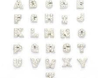 Floating Locket Letter Charms, ABC, Crystal Letter Charms, Personalised Locket, Locket Letters, A-Z Charms, Alphabet, Name Jewellery