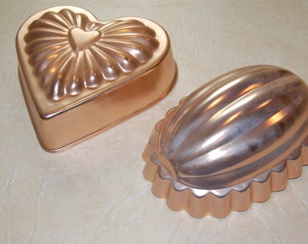 Vintage Copper Jello Mold, Kitchen decor, Wall Hanging, Heart Mold